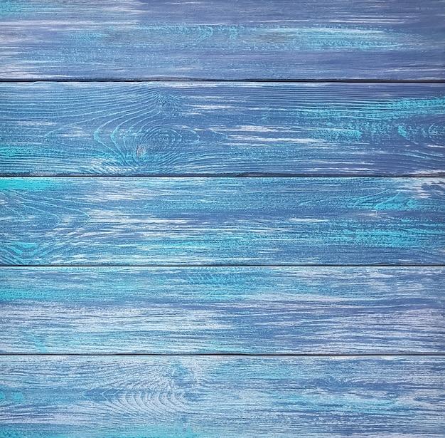 Priorità bassa o struttura delle plance di legno verniciate blu. avvicinamento