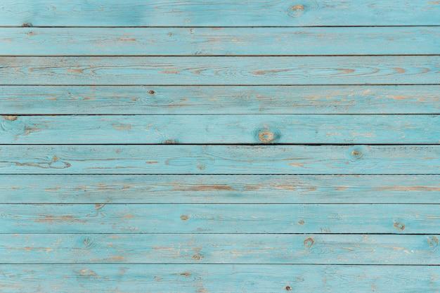 Plance di legno verniciate blu, fondo, struttura