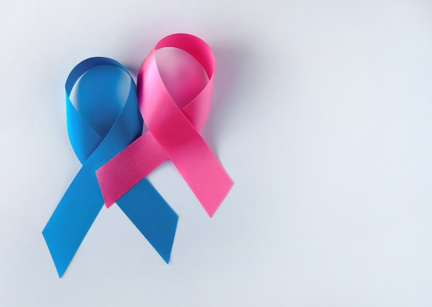 Nastri simbolici blu e rosa