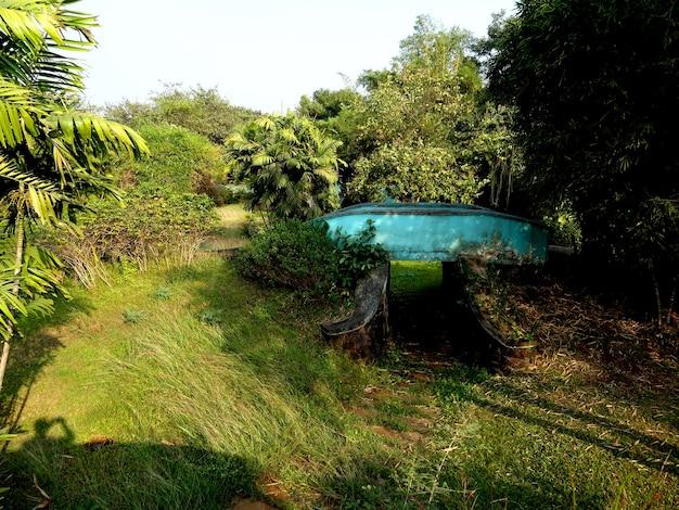 Blue pool e green area