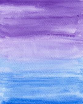 Trama di sfondo acquerello sfumato blu e viola