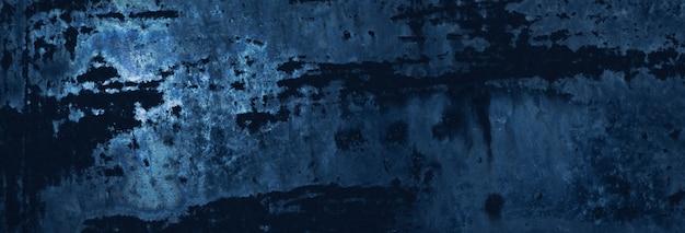 Metallo arrugginito blu. sfondo texture
