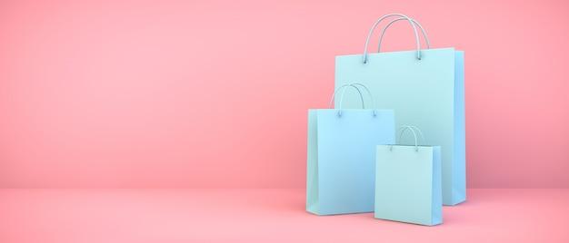 Collezione di borse per la spesa blu