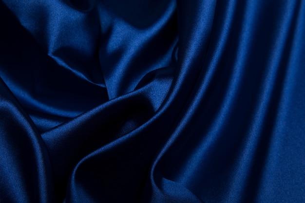 Trama materiale di seta blu