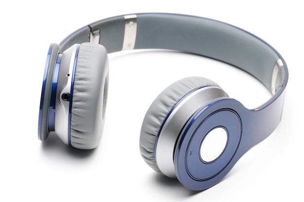 Cuffie moderne blu e argento per ascoltare musica