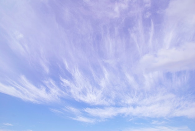 Sfondo del cielo blu con nuvole minuscole
