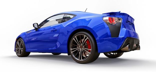 Piccolo coupé di automobile sportiva blu. rendering 3d.