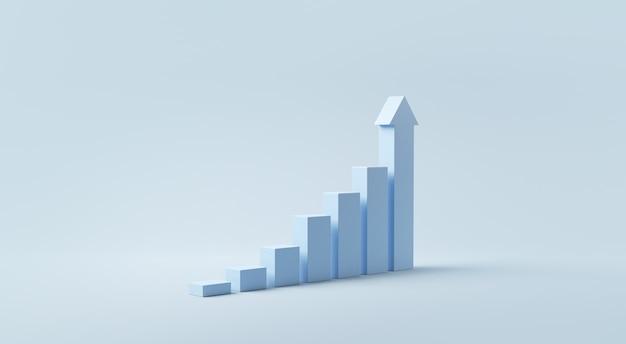 Gradino blu per il successo della crescita.