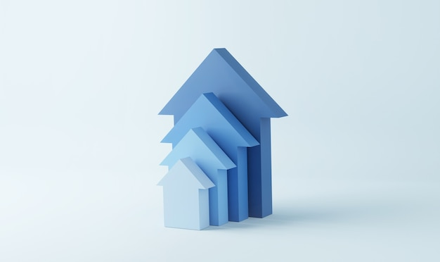 Un gradino blu verso il successo della crescita