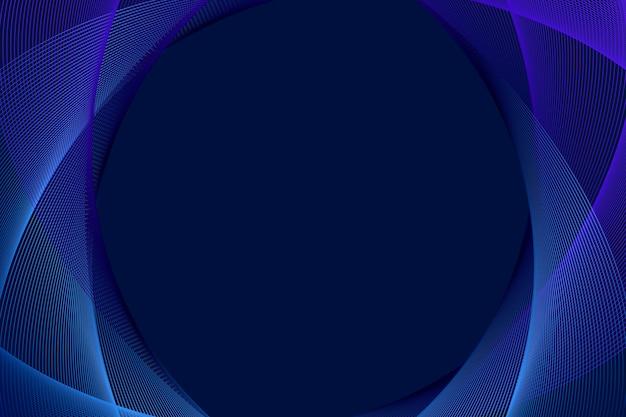 Illustrazione di sfondo lineare surreale blu