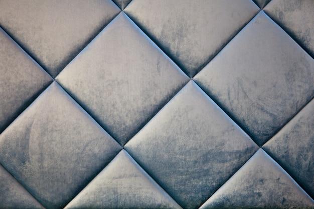 Capotono tessile in velluto blu teal o quadrati in tessuto trapuntato morbido a quadretti velluto blu