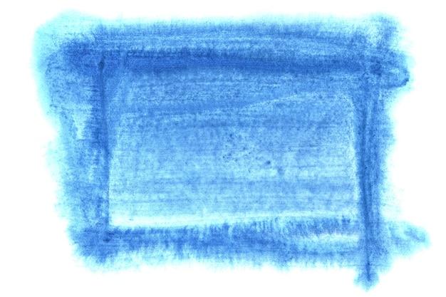 Cornice acquerello blu isolato su sfondo bianco. spazio per il tuo testo