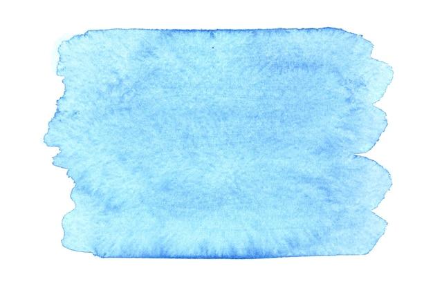 Macchia dell'acquerello blu isolato su sfondo bianco. spazio per il tuo testo