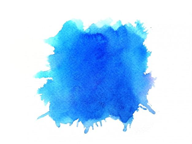 Macchia blu dell'acquerello