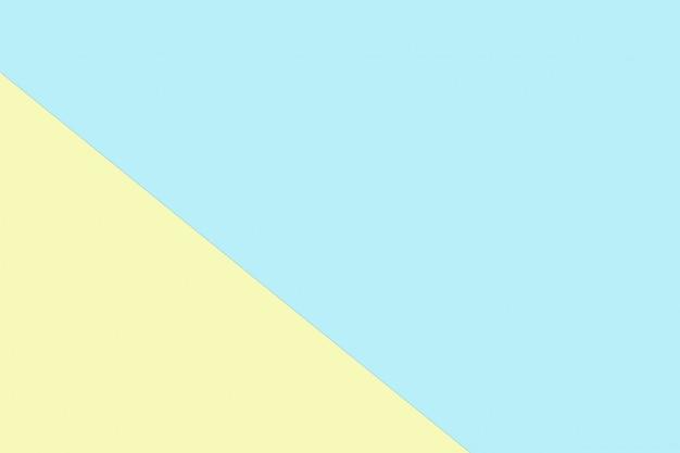 Colore di carta pastello blu e giallo per il fondo di struttura