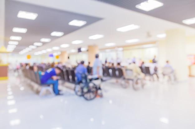 Sfocatura dello sfondo dell'immagine dell'area di attesa in ospedale o in clinica