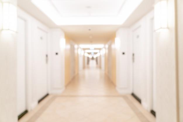 Sfocatura hall dell'hotel di lusso