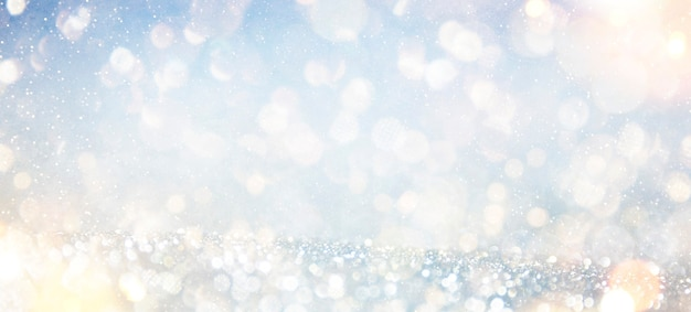Sfondo sfocato con bokeh. cartolina d'auguri di natale e felice anno nuovo.