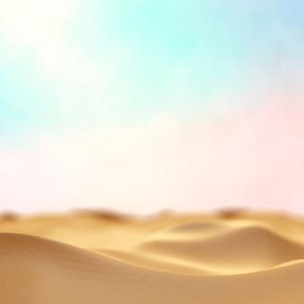 Fine vaga della sabbia del deserto in su