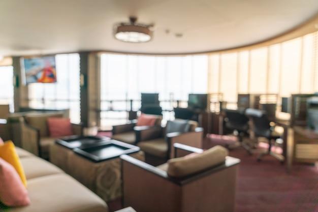 Hall e lounge dell'hotel di lusso offuscata