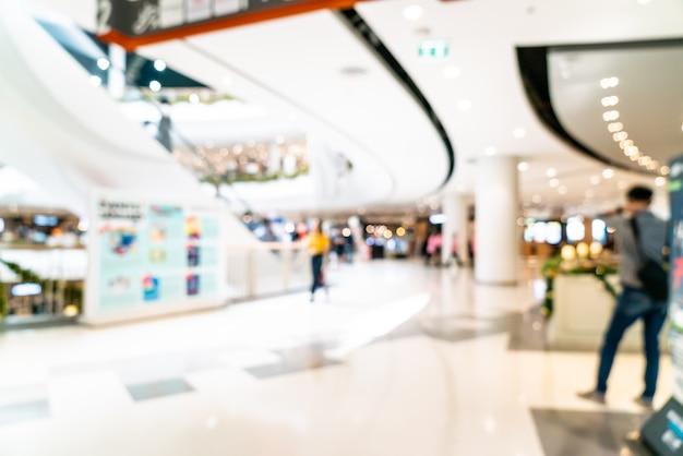 Centro commerciale e negozio al dettaglio offuscati