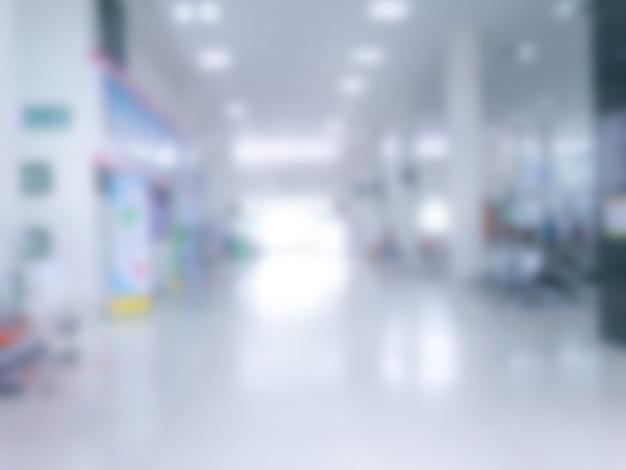 Reparto paziente dell'ospedale sfocato, immagine sfocata del centro sanitario