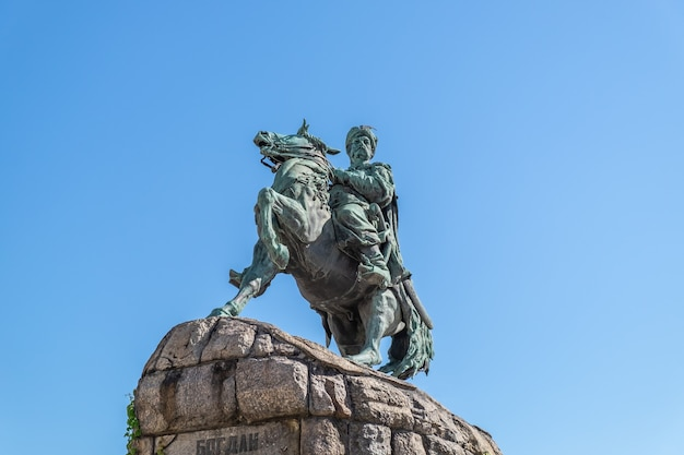 Bohdan khmelnytsky monumento a kiev dedicato all'ospite hetman di zaporizhian bohdan khmelnytsky