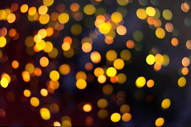 Boke di luci notturne su sfondo nero