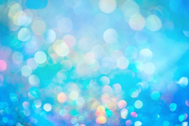 Bokeh glitter colorfull sfocato sullo sfondo astratto per anniversario, capodanno o natale