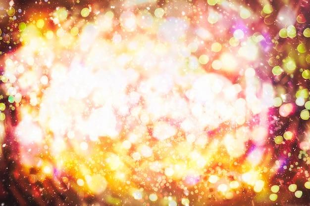Bokeh con più colori, sfondo bokeh di luci festive, luci bokeh sfocate, bokeh sfocato