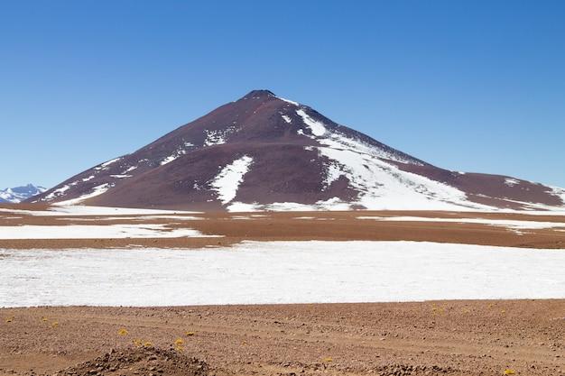 Paesaggio boliviano, vista del deserto di salvador dali. bella bolivia