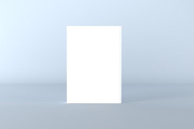 Illustrazione di rendering 3d di mockup di copertina del libro
