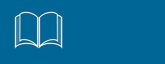 Icona del libro su sfondo blu