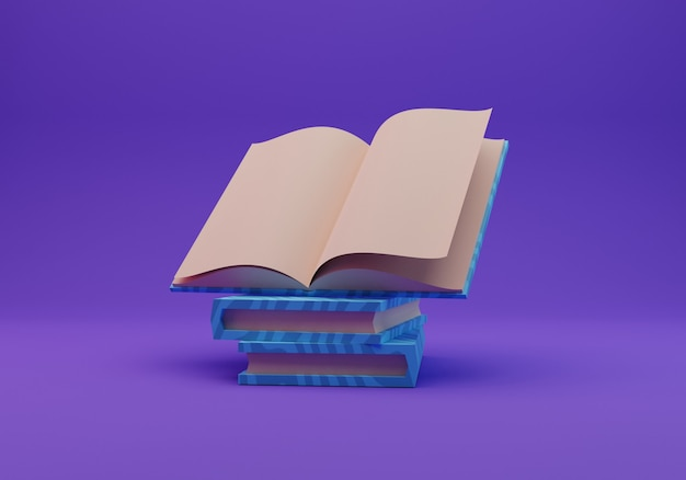 Illustrazione del libro, rendering 3d