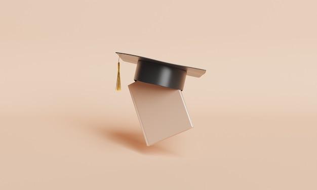 Libro con cappello da laurea