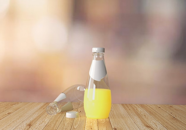 Bottiglia jus mockup