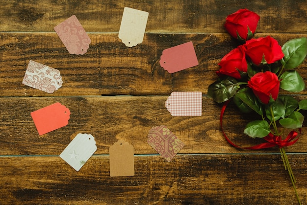 Bouquet di rose rosse Foto Premium
