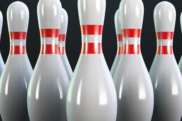 Birilli da bowling da vicino.