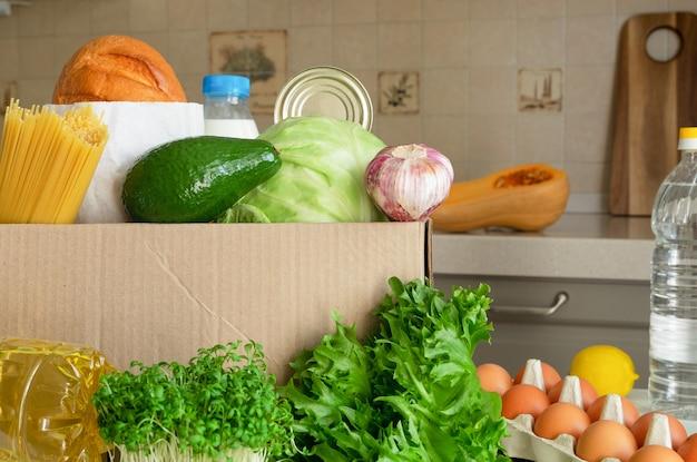 Una scatola con una serie di prodotti necessari.