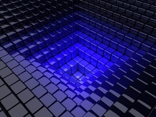 Scatole dal blu al modello di sfondo nero