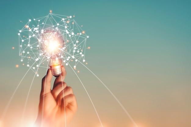 Brainstorming idee e immaginazione creatività e ispirazione innovazione tecnologica.