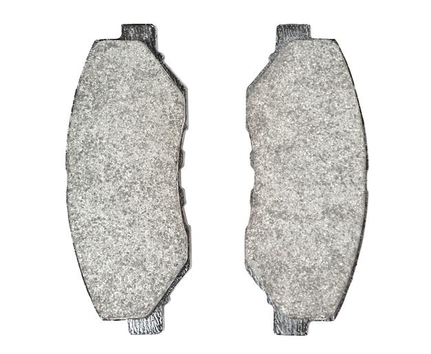 Pastiglie dei freni isolate su bianco