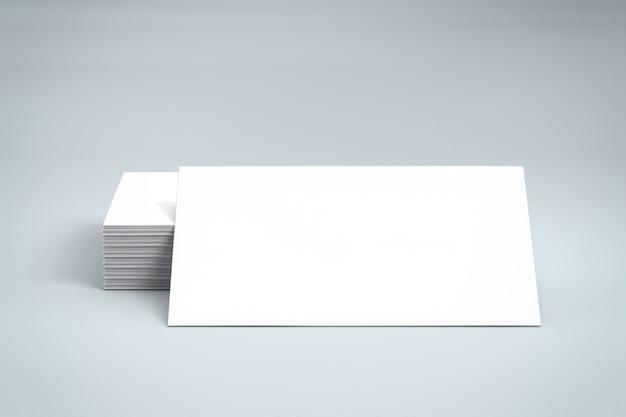 Biglietto da visita in bianco di identità di marchio o carta di credito