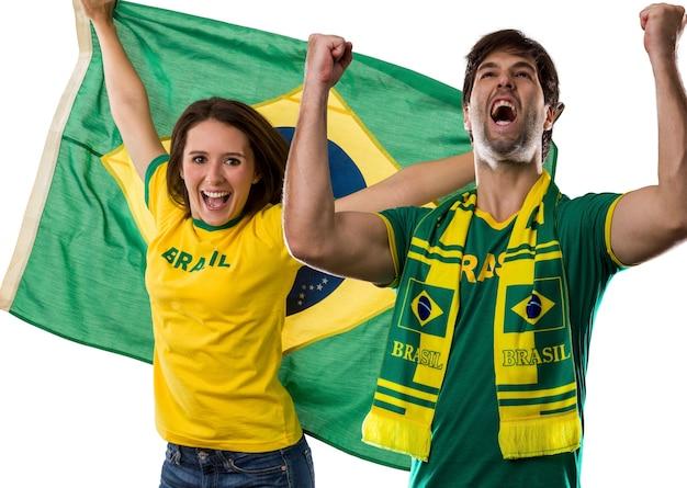 Coppia brasiliana che celebra su a.