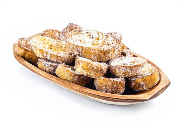 Dessert di pane noto come toast francese