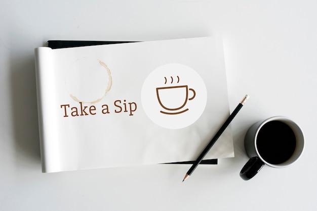 Break time sorseggia il concetto di caffè