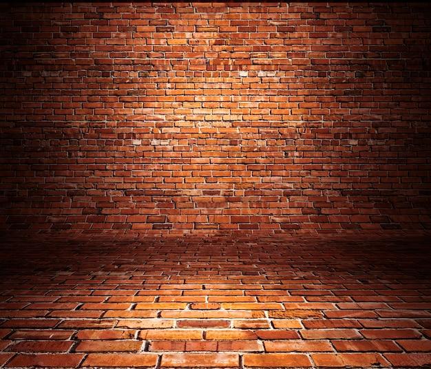 Pannelli in mattoni utilizzati come sfondo.