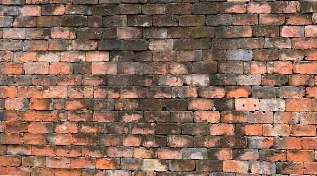 Vecchia struttura della muratura del mattone del fondo del muro di mattoni