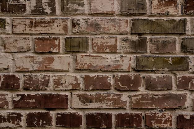 Muro di mattoni marrone, beige, colori caffè, sfondo con texture o sfondo