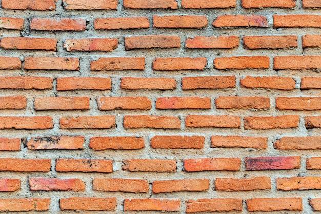 Primo piano del muro di mattoni